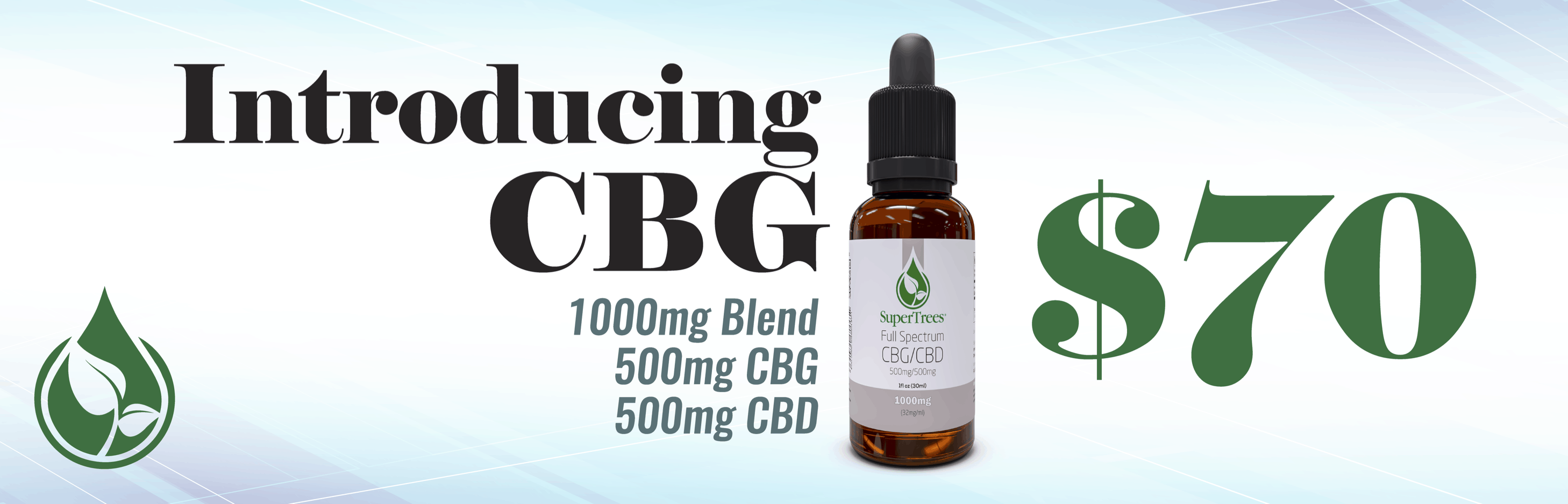 SuperTrees Botanicals - CBG CBD Combination - Front Slider - Desktop